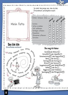 Friends are like the air to breathe - The special souvenir album: Freundebuc . Birthday Interview, Kindergarten Portfolio, Jobs In Art, Friend Book, German Language Learning, Learn German, Friends Are Like, Exercise For Kids, Teaching Materials