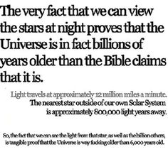 Until very recently I had no idea that people actually still believe in Creationism.