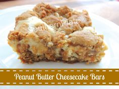 "Peanut Butter Cheesecake Cookie Bars from ""Christy Jordan's Southern Plate"""