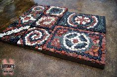 how to make mosaic rock pavers , concrete masonry, how to, landscape
