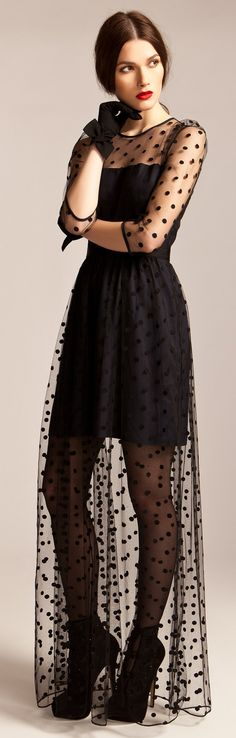 autumn black polka dot dress.. Both time and money needs to have a Perfect Body…