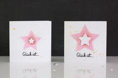 Grußkarten mit Sternen | Cardmaking   #diecutting #bigshot #star #stamping
