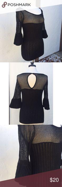 Very Pretty Stretchy Fitted Arden B Sweater Very Pretty Stretchy Arden B Sweater  68% Rayon 25% Polyester 7% Metallic Arden B Sweaters Crew & Scoop Necks