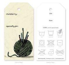 Resultado de imagen para crocheted with love printable gift tags