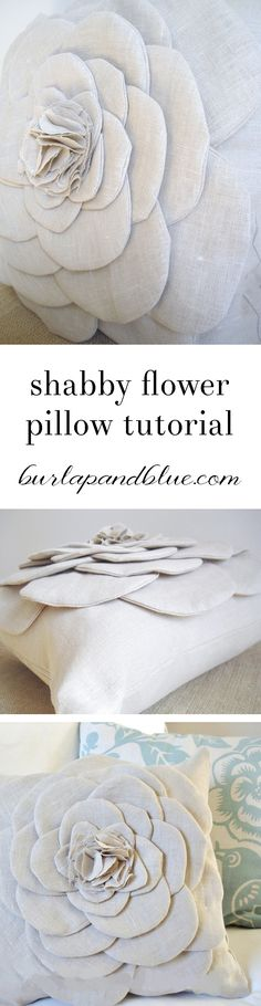 Shabby Flower Pillow Tutorial...easy pillow DIY!