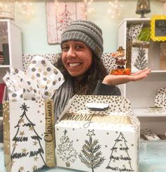 Need your gift wrapped? Amy Pete and I will wrap it all up nicely for $1 per bag or box!