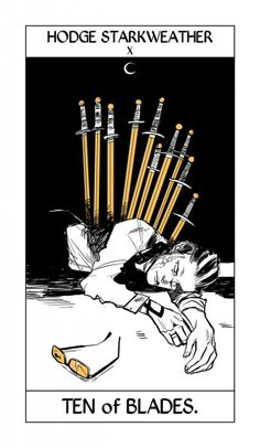 From Cassandra Jean ...   hodge starkweather, tarot card,  the mortal instruments