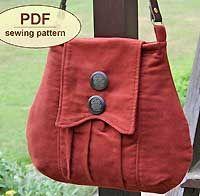 Poacher's Bag Pattern in PDF -very cute...should I get adventurous in the sewing rhealm.
