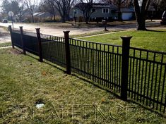 Metal Yard Fencing with double pickets for more privacy -- Great Fence