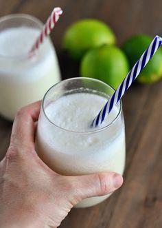Brazilian Lemonade by melskitchencafe: Or in other words, 2 minute blender limeade! #Limeade #Brazilian