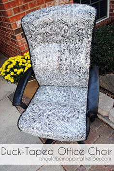 I Should Be Mopping The Floor: Duck Taped Office Chair