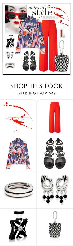 """Emilio Pucci Printed Stretch Crepe Top Look"" by romaboots-1 ❤ liked on Polyvore featuring Roland Mouret, Emilio Pucci, Proenza Schouler, Alexis Bittar, NOVICA, Bond No. 9 and Alexander Wang"