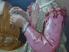 Hands in historical painting, National Gallery, London