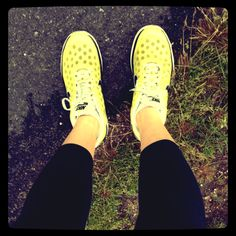 Yellow Nike Running Shoes #fitfluential http://sliceofsparkle.com/fabulous-fitness-survey/