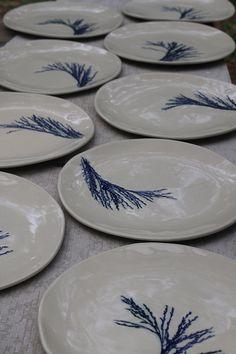 Botanic Dinner Plate Set by Elke Lucas Ceramics