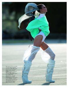 Karlie Kloss by Hans Feurer for Vogue Paris March 2012