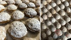 Oříšky plněné karamelovým krémem a posypané moučkovým cukrem | NejRecept.cz Four, Christmas Cookies, Creme, Muffin, Food And Drink, Chocolate, Drinks, Breakfast, Top Recipes