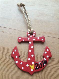 Wood anchor ornament for Disney Cruise FE
