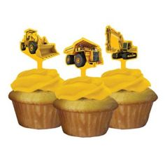 Birthday Construction Zone Cupcake Toppers | 12 ct - $3.75
