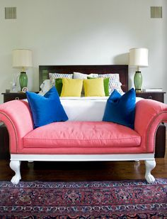 love the pink couch from July 2013 THE NEW MATCHBOOK MAGAZINE
