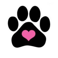 Dog Nail Decals Set of 20 - Heart in Black Paw Print Paw Print Art, Paw Prints, Animal Nail Art, Miniature Dachshunds, Dog Nails, Trendy Nail Art, Nail Decals, Dog Tattoos, Tatoos