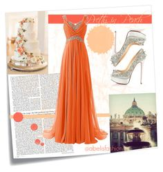 """Pretty in peach"" by abelis on Polyvore featuring moda, Post-It y Christian Louboutin"