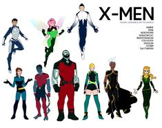 X-MEN SABRA + SHADOWCAT + NIGHTCRAWLER + PIXIE + COLOSSUS + NORTHSTAR + DAZZLER + STORM + DAYTRIPPER inks & colors by Héctor Barros