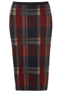 Blanket Check Tube Skirt