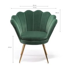 With its modern vibe, this comfortable piece brings much style in your home. Wonderfully comfortable elegant armchair with velvet fabric cover. Highly unique and memorable piece of furniture that is sure to dominate any space. High quality  long solid legs Perfect combination of modern design and functionality. Green Velvet Armchair, Fabric Covered, Armchairs, Modern Design, Accent Chairs, How To Memorize Things, Legs, Space, Elegant