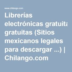 Librerías electrónicas gratuitas (Sitios mexicanos legales para descargar ...) | Chilango.com Arduino Projects, Technology, Learning, Carrera, Electrical Circuit Diagram, Circuits, Toy Block, Tech, Tecnologia