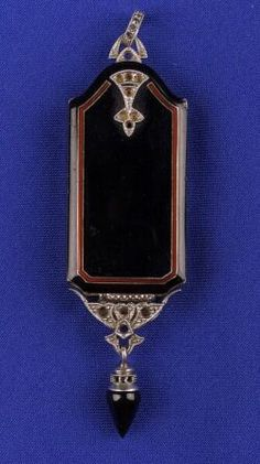 Art Deco Platinum and Enamel Lorgnette