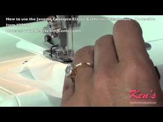 How to use the Janome Coverpro Elastic Gathering Foot - underside - YouTube