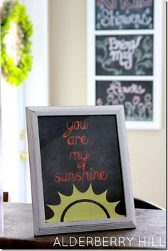 "5 styles-5 color choices.  ""You are My Sunshine"" FREE Printable  #alderberryhill"