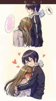 Anime Couple :: Noragami :: Yato and Hiyori Noragami Anime, Manga Anime, Yato And Hiyori, Film Anime, Haikyuu Anime, Manga Couple, Anime Love Couple, Cute Anime Couples, Anime Couples Cuddling