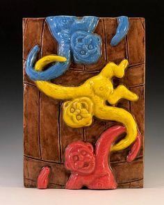 "Greg Hicho on Instagram: ""New 4x6 Barrel Of Monkeys ceramic art tile. Available now in my Etsy shop! #greghicho #arttile #barrelofmonkeys #vintagetoys #ceramictile…"" Barrel Of Monkeys, Tile Art, Ceramic Art, Vintage Toys, Lion Sculpture, My Etsy Shop, Shapes, Ceramics, Statue"