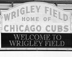 Chicago Cubs Wrigley Field print, black and white picture on photo paper or canvas, size 5x7 to 30x45 inches, large B&W wall decor art. Chicago Wrigley Field photo print; Chicago Cubs in black and white photography, baseball art. Available in sizes from 5x7 to 30x45 inches, either on a premium photo paper or ready-to-hang canvas gallery wrap. Choose a desired paper or canvas size from the SELECT OPTIONS menu (located just above the Add to Cart button). Size marks will not appear on the...