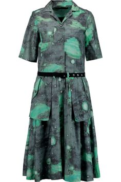 MARC BY MARC JACOBS Printed cotton and silk-blend shirt dress. #marcbymarcjacobs #cloth #dress