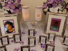 In memory of those who could not be there in person. The Memorial Table at my sister's reception 10/11/14