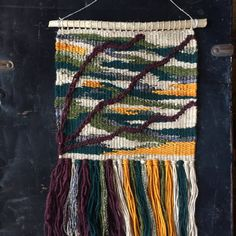 Jewel Toned Weaving  Woven Wall Hanging