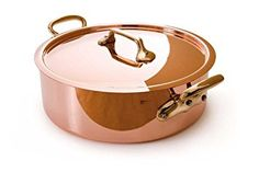 Mauviel Made In France M'Heritage Copper M150B 6506.28 6.2-Quart Saute Pan with Lid and Bronze Handles