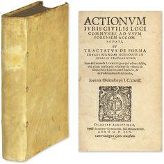 Actionum Iuris Civilis Bound With Lucerna Causidicorum.. | Johann Oldendorp, Hieronymus Treutler