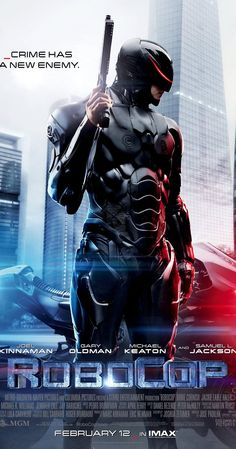 Directed by José Padilha.  With Joel Kinnaman, Gary Oldman, Michael Keaton, Abbie Cornish. In 2028 Detroit, when Alex Murphy - a loving husband, father and good cop - is critically injured in the line of duty, the multinational conglomerate OmniCorp sees their chance for a part-man, part-robot police officer.