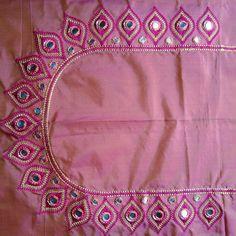Modern Blouse Designs, Fancy Blouse Designs, Embroidery Neck Designs, Embroidery Works, Pendant Set, Diamond Pendant, Mirror Work Blouse Design, Back Neck Designs, Anarkali Dress