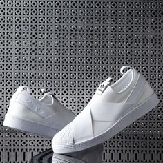 timeless design cdaf7 7ad9f Fresh Whites! The adidas Originals Superstar Slip On Trainer is available  in women s  amp