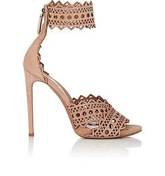 We Adore: The Laser-Cut Suede Ankle-Strap Sandals from Alaïa at Barneys New York