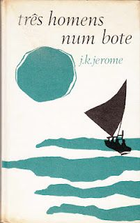 vintage book cover  Three Men in a Boat - Jerome K. Jerome