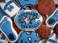 UNC cookies!  If i was ever skilled enough to make these...I could never eat them!