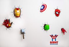 Super cool Avengers 3D Wall Deco Night Lights for sale!