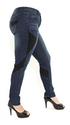 motorcycle jeans (plus size)