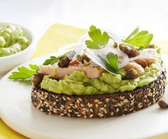 Smoky trout and creamy avocado butter combine perfectly for a delicious avocado breakfast toast. Find the recipe here! Sausage Breakfast Sandwich, Avocado Breakfast, Breakfast Toast, Perfect Breakfast, Avocado Toast, Breakfast Sandwiches, Breakfast Recipes, Avocado Nutrition, Pizza